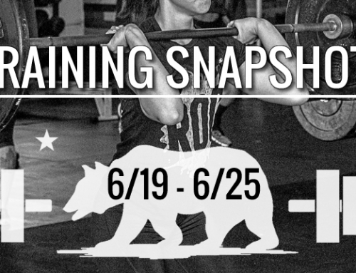 This Week's Training: 6/19 – 6/25