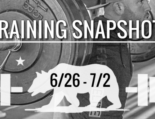 This Week's Training: 6/26 – 7/2