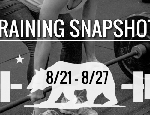 This Week's Training 8/21 – 8/27