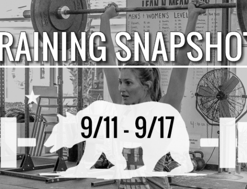 This Week's Training 9/11 – 9/17