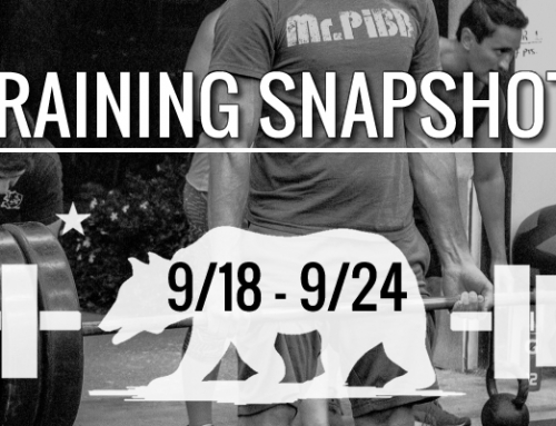 This Week's Training 9/18 – 9/24