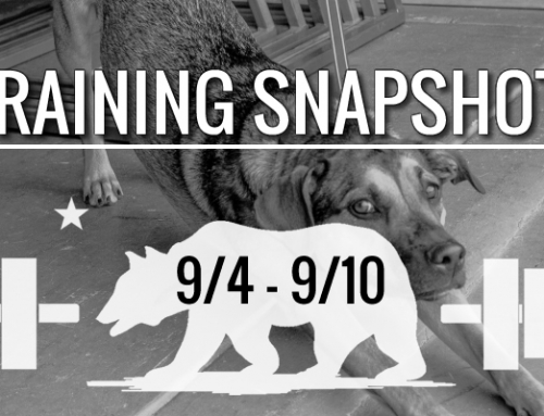 This Week's Training 9/4 – 9/10