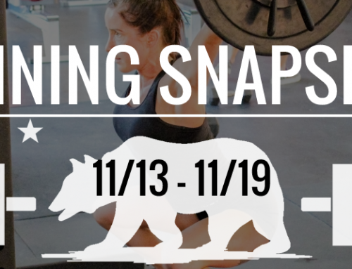 The Week's Training 11/13 – 11/19