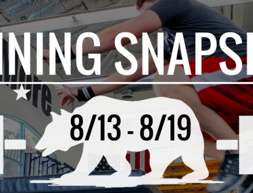 This Week's Training 8/13 – 8/19