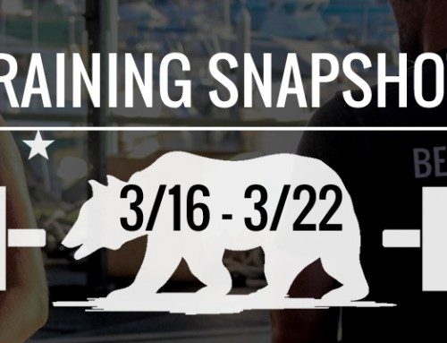 This Week's Training 3/16 – 3/22