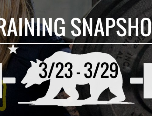 This Week's Training 3/23 – 3/29