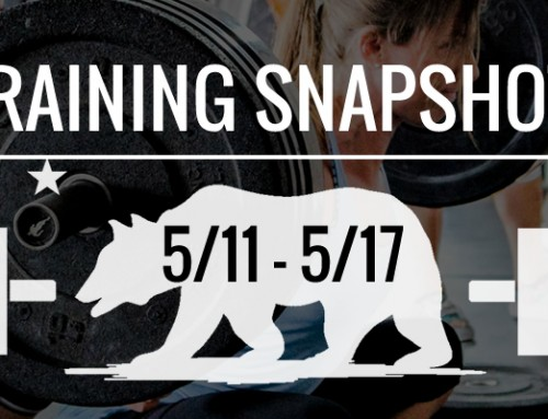 This Week's Training 5/11 – 5/17