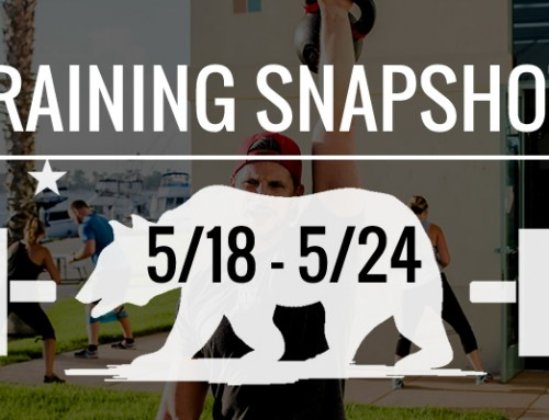 This Week's Training 5/18 – 5/24