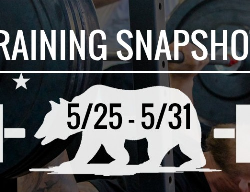 This Week Training: 5/25 – 5/31
