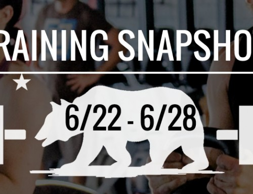 This Week's Training: 6/22 – 6/28