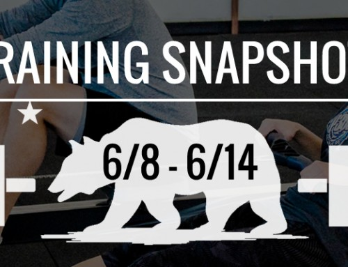 This Week's Training 6/8 – 6/15