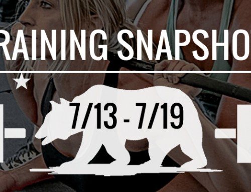 This Week's Training: 7/13 – 7/19